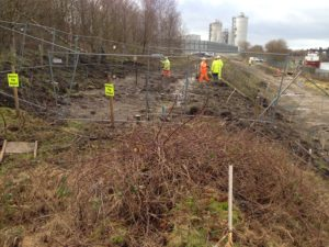 Carrington canal embankment stabilisation