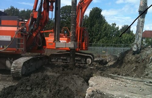 Pipeline soil stabilisation deep soil mixing