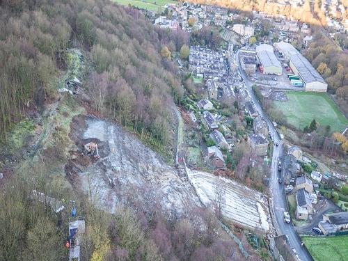 Asbestos contaminated slope stabilisation